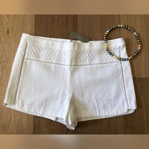 J. CREW Ivory Tapestry High-Rise Dress Shorts NWT